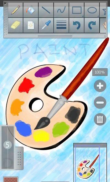 ویرایشگر حرفه ای تصاویر با نام Pro Paint Mobile - جاوا